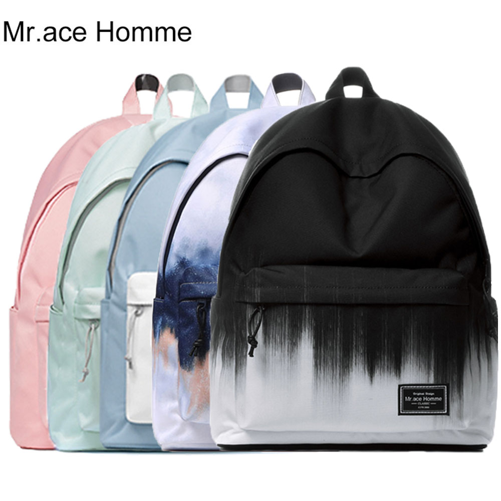 MAH Brand Unisex Laptop Backpack Women School Bag For Girl Travel School Backpacks Men Waterproof Polyester College Bagback Boy