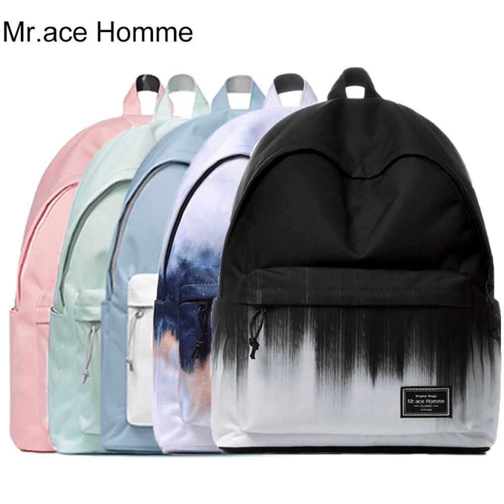 Бренд MAH унисекс рюкзак для ноутбука женская школьная сумка для девочек дорожные школьные рюкзаки мужские водонепроницаемые Полиэстеровые рюкзаки для колледжа для мальчиков|Рюкзаки|   | АлиЭкспресс