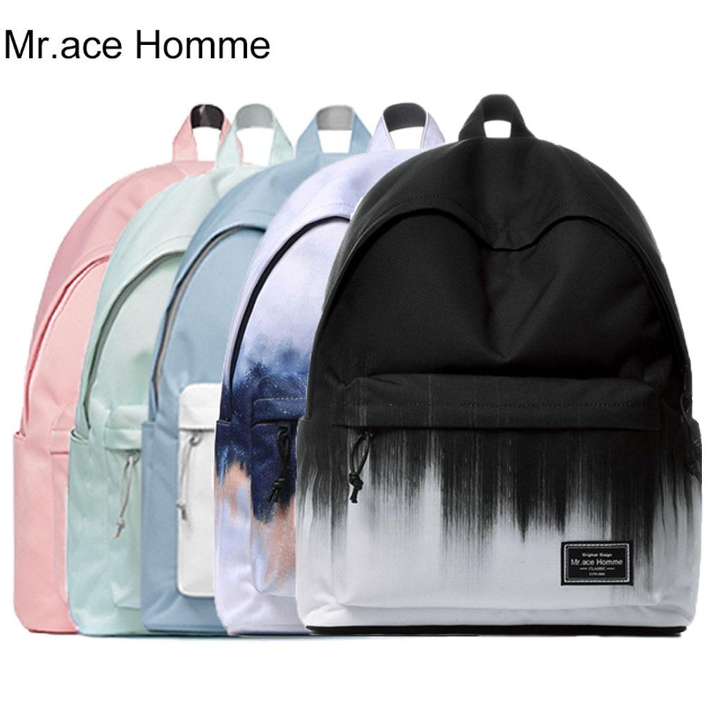 Unisex Laptop Brand Backpack Women School Bag For Girl Colourful Canvas Travel Backpack Men Waterproof Rucksack Boy College Bag