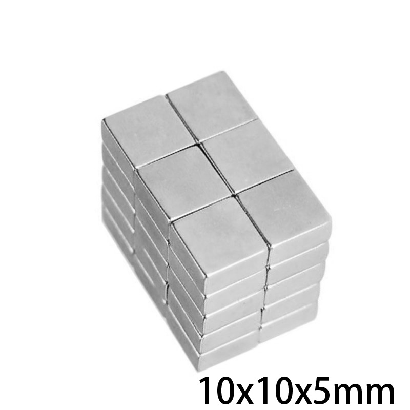 10/20/30/50/100pcs 10x10x5 mm Rare Earth Neodymium Magnet 10*10*5 mm Powerful Strong Magnetic Magnets 10x10x5mm Block 10*10 mm(China)