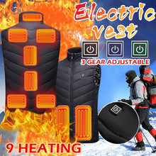 Men Women Outdoor USB Infrared Heating Vest Jacket Winter Flexible Electric Thermal Clothing Waistcoat Fishing Hiking Dropship cheap ISHOWTIENDA CN(Origin) Fits true to size take your normal size Vests None Polyester