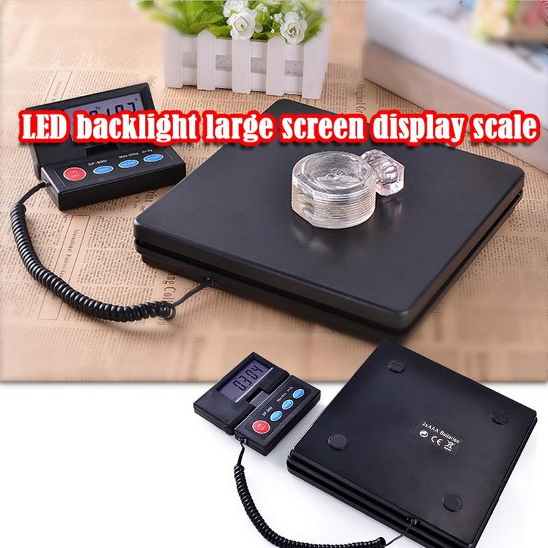 Mini balance portative de plate-forme de bagage de pesage Postal de paquet électronique d'affichage à cristaux liquides de 50kg