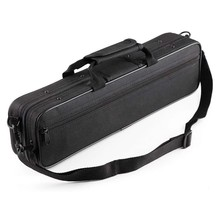 HK.LADE Water-Resistant Flute Case Oxford Cloth Gig Bag Box for Western Concert Flute with Adjustable Shoulder Strap