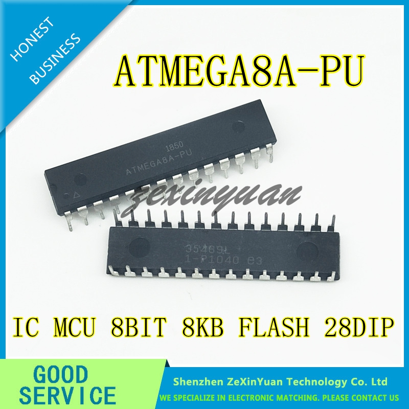 10PCS/LOT ATMEGA8A-PU 8K 16MHZ 28-PDIP ATMEGA8A 8 ATMEGA8 8A ATMEGA 8A DIP-8