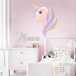 Customized Children's Name Modern Wall Sticker Pony Applique Cute Cartoon Wall Decals Boys And Girls Nursery Room Decoration