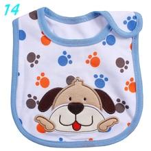 цена Baby Bibs Reusable Washable Cotton Cute Pattern Bib Toddler Kids Adjustable Feeding Burp Cloth Infant Apron 0-3 Years Old онлайн в 2017 году
