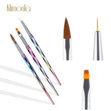 3 unids/set clavo cepillos pluma gradiente Laser Diseño de Arte de uñas herramientas de pintura de la pluma kit de cepillos para pulir belleza manicura arte cepillo