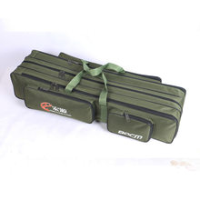 Fishing Gear Canvas Bag 70/80/90 Cm/1.2 M Double Layer Three Layer Wear-Resistant Fishing Rod Bag Canvas(China)