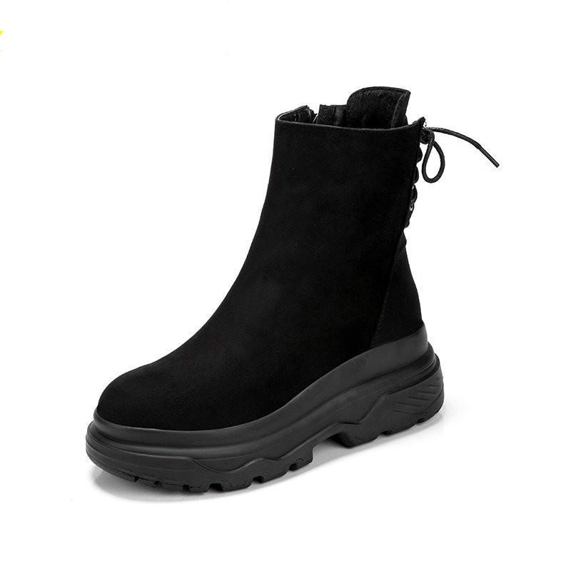 água quente pluss feminino botas curtas rendas até sapatos de algodão mulher