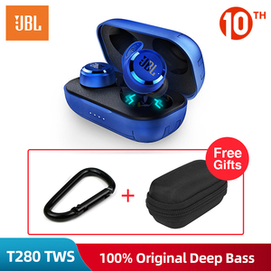 JBL T280 TWS Bluetooth Wireless Earbuds with Charging Case Sport Running Music Earphones IPX5 Waterproof Headset with Mic(China)
