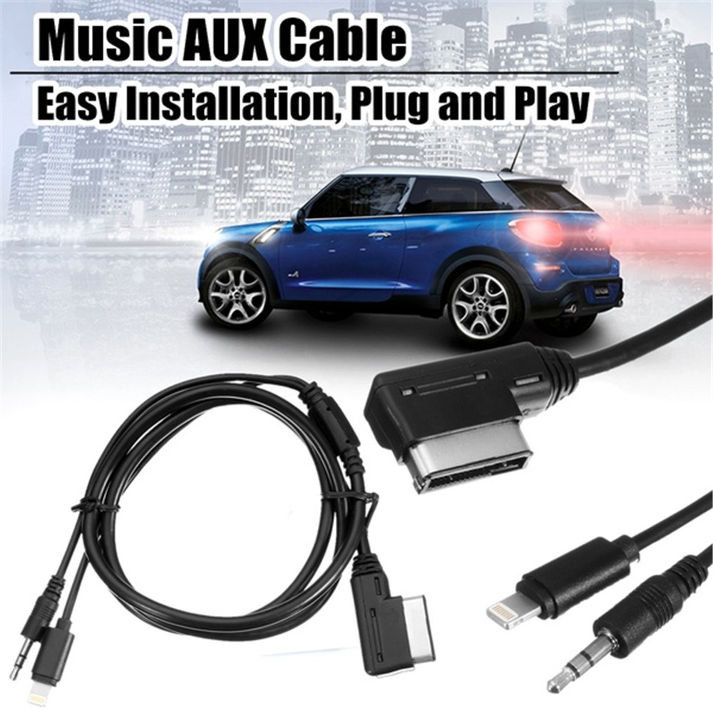Music Interface AUX Cable 105cm Cord 8pin Charging For IPHONE IPOD <font><b>Mercedes</b></font>-Benz Car Audio AUX USB Adapter image