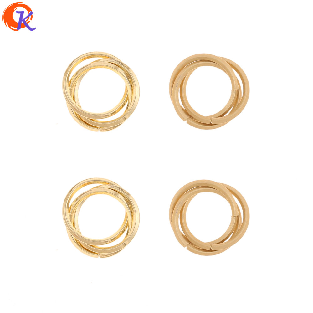 Cordial Design 100Pcs 14*14MM Jewelry Accessories/Earrings Connectors/Loop Shape/Hand Made/DIY Jewelry Making/Earring Findings