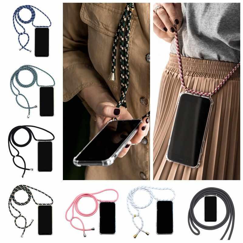 Bigcousin Funda con Cuerda Compatible con Xiaomi Mi 8,Transparente de TPU con Ajustable Collar Cadena Cord/ón,Rose Gold