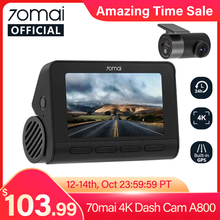 Car DVR Image Dash-Cam GPS A800 ADAS 24h Parking 70mai Cinema-Quality Sony Imx415 Smart
