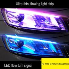 1 sztuka ultra-cienki samochód światła do jazdy dziennej LED miękka rurka taśmy LED kolorowe lampka wodna przewodnik światła samochodowe diody na wstążce taśmy tanie tanio YASOKRO CN (pochodzenie) Turn Signal 12 v Uniwersalny CD017 3 5W