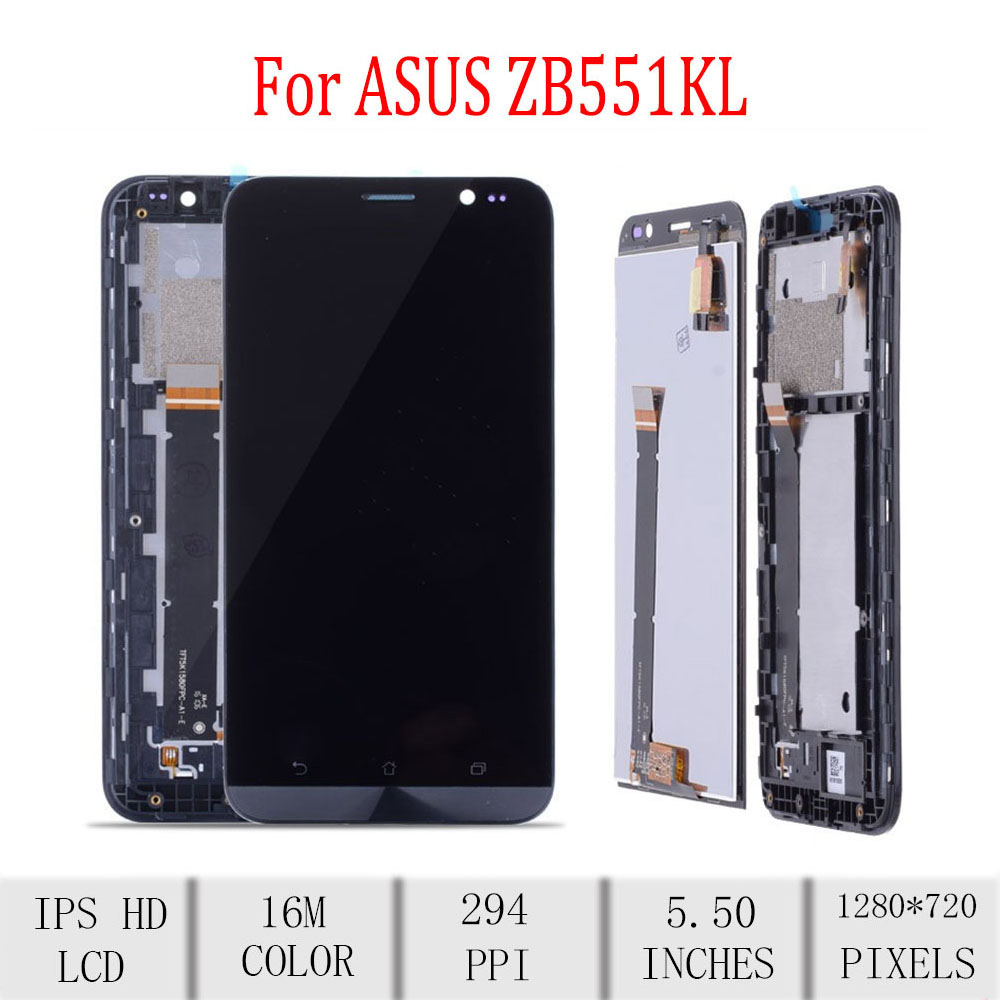 Original For ASUS Zenfone Go TV <font><b>ZB551KL</b></font> X013D LCD <font><b>Display</b></font> Touch Screen Digitizer Assembly For Asus <font><b>ZB551KL</b></font> <font><b>Display</b></font> with Frame image