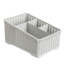 4 сетки пластиковая коробка для хранения офисная настольная Косметика Макияж Ювелирные изделия канцелярские отделочные коробки мелочи мусора Органайзер чехол