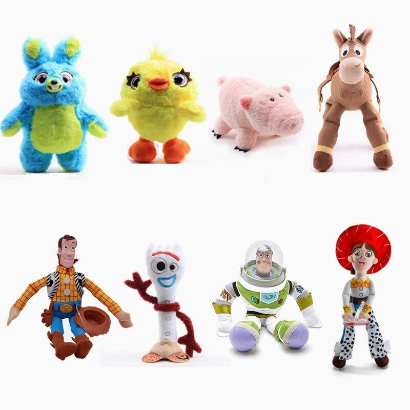 Pixar Movie Toy Story 4 Forky Woody Buzz Lightyear Jessie Bunny Stuffed Dolls Soft Plush Toys Decoration 20/35/45CM Kids Gift