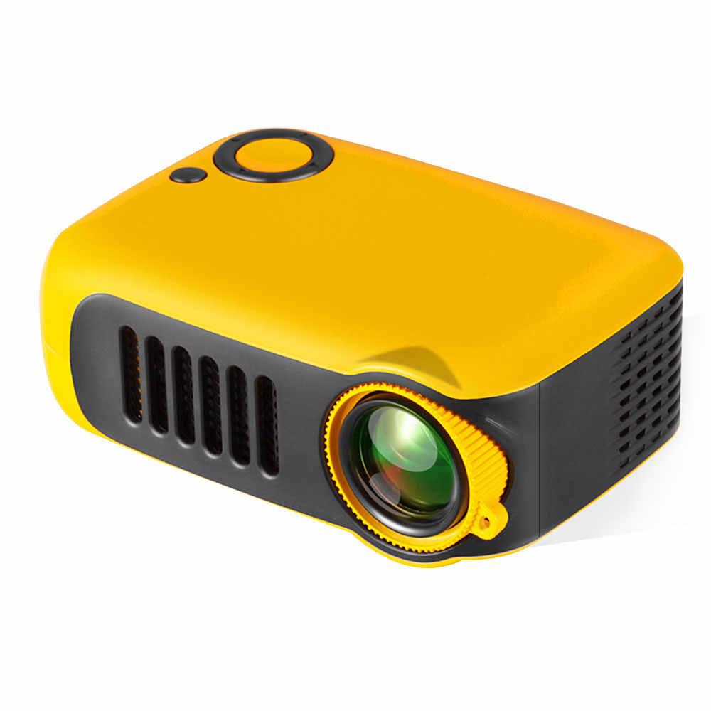 A2000 Ha Condotto Il Mini Proiettore Portatile Proiettore 800 Lumen Supporta 1080P Lcd Mini Projetor 50,000 Ore di Vita Della Lampada Home Theater video