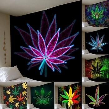 Настенный гобелен с 3D принтом кленовых листьев, украшение для спальни, домашний декор, настенный гобелен, художественный гобелен (150*100 см/150*130 см/200*150 см)