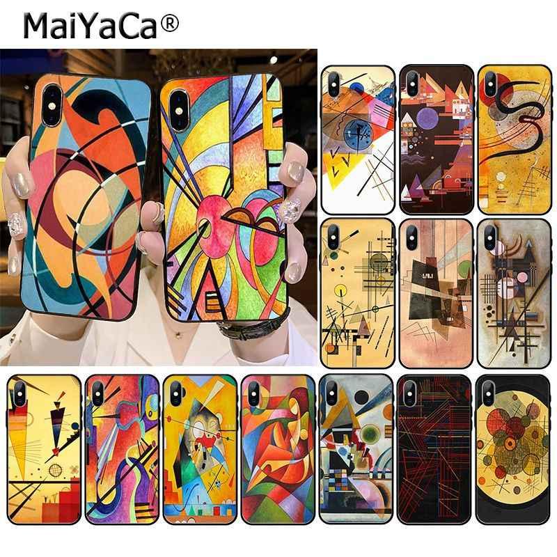 MaiYaCa ワシリー · カンディンスキー抽象芸術電話アクセサリーケース iphone 11 プロ XS 最大 XS XR 8 7 6 プラス 5 5S 、 SE