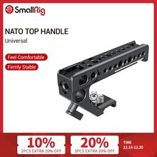 SmallRig Universal Nato Top Handle Grip With Cold Shoe Mount/15mm Rod Clamp/Arri Holes For Camera Cage With Nato Rail   2439