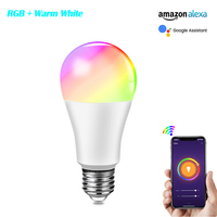 Apple Homekit-Lámpara inteligente con WiFi, 15W, E27, bombilla LED inteligente RGBW, Control por voz, Google Home, Echo dot, Alexa