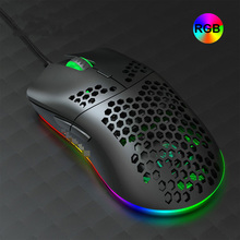 6400 DPI Verdrahtete Maus RGB Hintergrundbeleuchtung USB Gaming Maus J900 mit Sechs Einstellbare Hohl Ergonomisches Design Für Desktop Computer Gamer