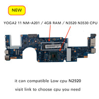 For Lenovo yoga 2 11 AIUU1 NM A201 Notebook pc Motherboard N3520 N3530 4GB Ram