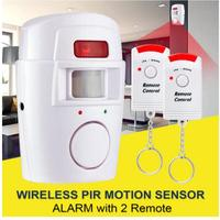 Home Security PIR MP Alert Infrared Sensor Anti-theft Motion Detector Alarm Monitor Wireless Alarm system+2 remote controller