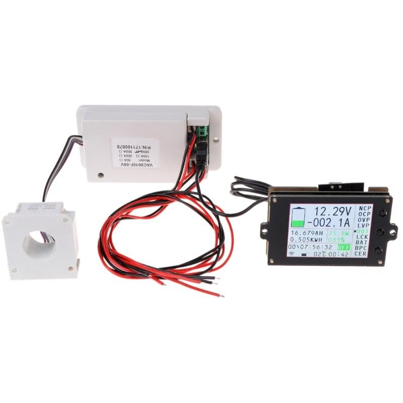ЖК дисплей Цифровой вольтметр постоянного тока Амперметр цветной экран измеритель мощности постоянного тока с датчиком Холла вольтметр те