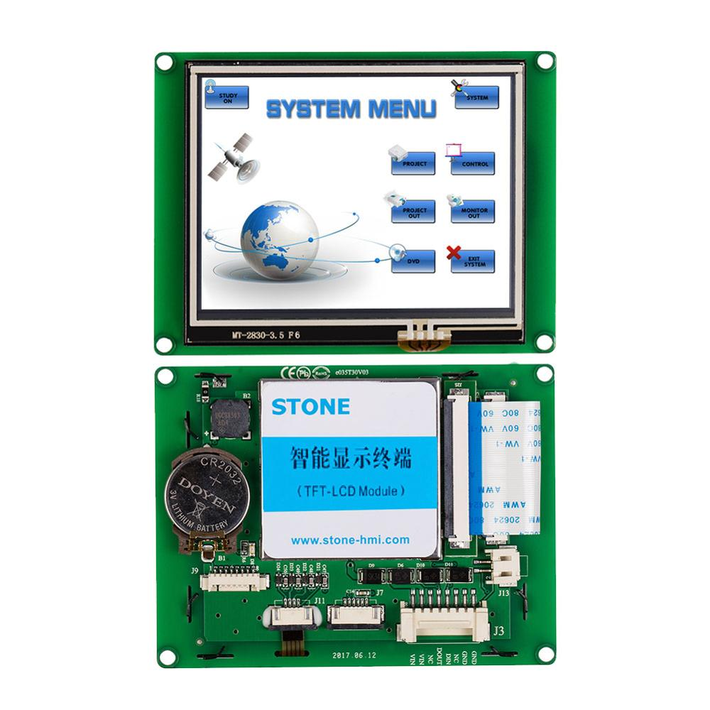 STONE  3.5 Inch HMI TFT LCD DIsplay Module With RS232/RS485  Interface+Software For Industrial Use