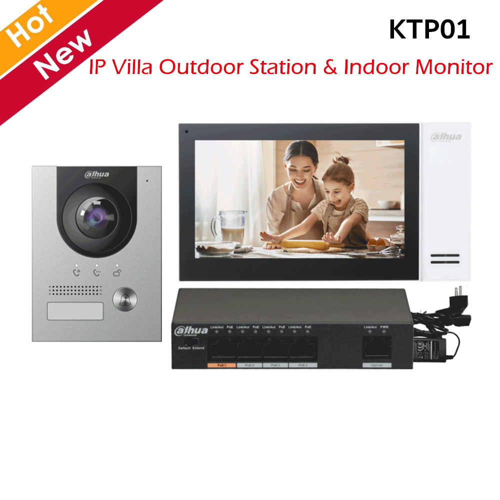 Dahua Video Intercoms Kits IP Villa Outdoor Station And Indoor Monitor 2MP Camera Support Night Vision Surface Mounted IP Kits
