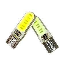 Carcasa de silicona T10 W5W 194, 12 Chips COB LED, cuña de coche, luz de techo de lectura Interior, luces de estacionamiento de Motor automático, lámparas laterales de ancho