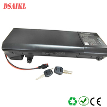 Ebike rear rack battery 36V 10.4Ah 11.6ah 12ah 13ah 14ah battery with charger for 8fun 250W 500W motor kit free shipping bafang bbs01 36v 250w mid drive motor kits with saddle bag battery ebike battery 36v 13ah saddle battery for bike