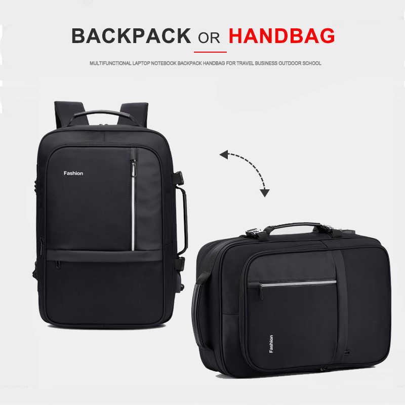 נשים גברים תרמיל אנטי גניבה 17 אינץ תרמילי מחשב נייד USB מטען 15.6 מחברת עסקי שקיות זכר עמיד למים נסיעות Bagpack