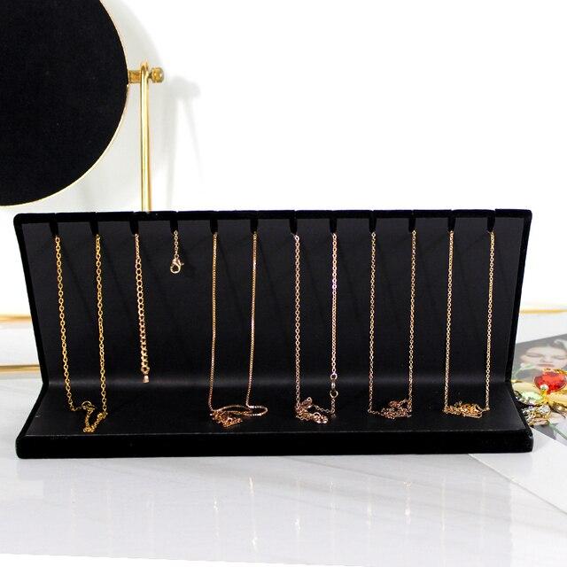 Купить l форма черные бархатные длинные серьги кулон ожерелье дисплей