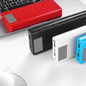 Image 2 - Qc 3.0 デュアル USB + タイプ C PD 8 × 18650 バッテリー DIY 電源銀行ボックス Led ライト急速充電器 iphone サムスンの携帯電話タブレット