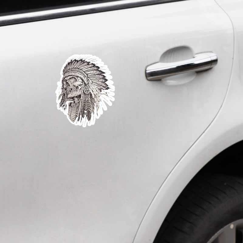YJZT 10,6 см * 13 см персональная индийская голова черепа аксессуары наклейка на автомобиль наклейка 6-2611
