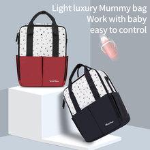 Disney Nappy Bags Backpack Waterproof Baby Care Mummy Bag Maternity Bags Large Travel Diaper Bag Mickey USB Mochila Maternidade