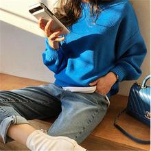 2020 Новое поступление свитер феи пуловеры корейский шик круглый
