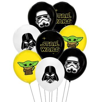 костюм клона командора коди star wars 36 38 10pcs/Lot Star Wars Balloons Star Wars Birthday Party Decoration Master Yoda Balloon Kids Toys Globos Cumpleanos Infantiles