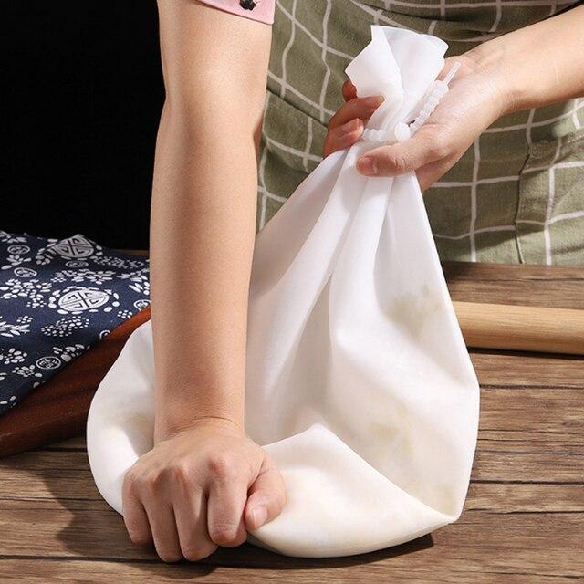 1.5KG Silicone Kneading Dough Bag Flour Mixer Bag Versatile Dough Mixer for Bread Pastry Pizza Kitchen Tools