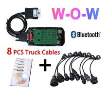 2020 Nieuwste V5.008 R2 Wow Vd Ds150e Cdp Met Bluetooth Voor Delphis Auto S Vrachtwagens Obd2 Diagnose Scanner Tool + Auto truck Kabels