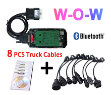2020 lastest V5.008 R2 WOW vd ds150e cdp with Bluetooth for delphis cars trucks obd2 diagnostic scanner tool+car truck cables