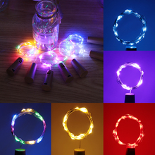 Lamp Wire-String-Lights Wine-Stopper Festival Party-Decor Wedding LED 8-Colors Fashion