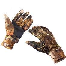 Sport Camouflage Keep Warming Fishing Gloves Anti-Slip Breathable Touch Screen Hunting Camping Cycling Outdoor