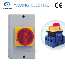YMD11-100 Cam Isolating Switch ON-OFF 2 Positions Changeover Selector With Screws Padlock 100A 3P Silver Contact 6 Terminals