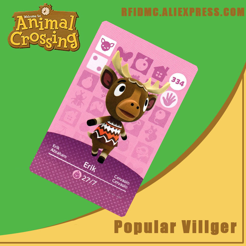334 Erik Animal Crossing Card Amiibo For New Horizons
