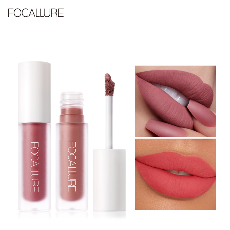 FOCALLURE Lipgloss Waterproof Cosmetic Matte Velvet Lip Batom Makeup Sexy Liquid Lip Gloss